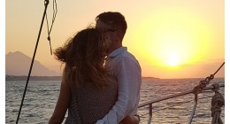 "Shared Night Tour - ""Kyrenia Sunset Boat Trips"" with dinner & BBQ (Small Groups Gathering to join the others on board) Thursdays Only. One of the Best Things to Do in North Cyprus"